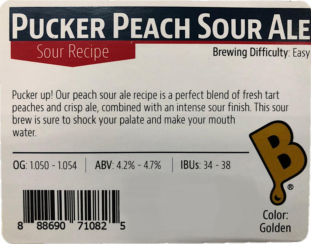 Pucker Peach Sour Ale Ingredient Kit