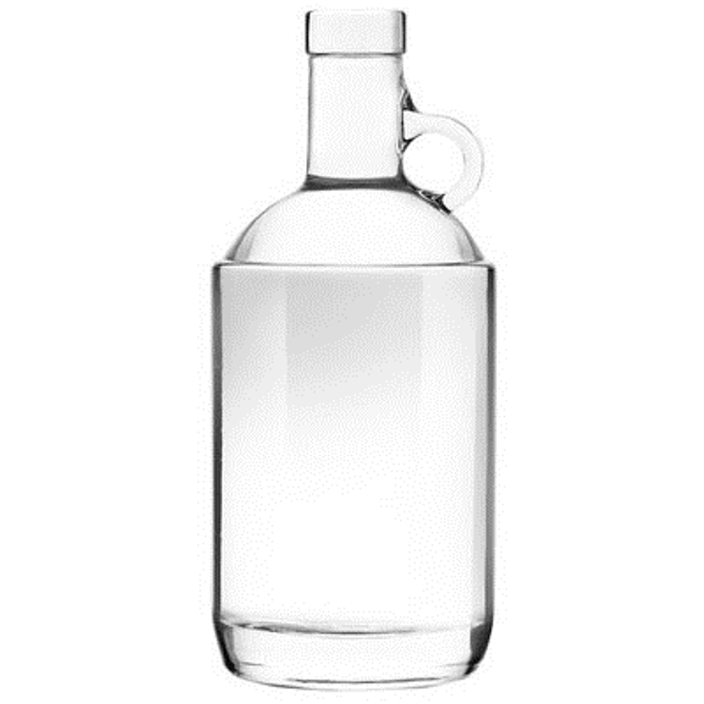 Clear Moonshine Jug 375mL - Case of 12