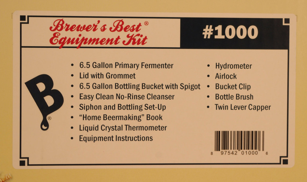 Brewers Best Equipment Kit 1000  Label Peelers