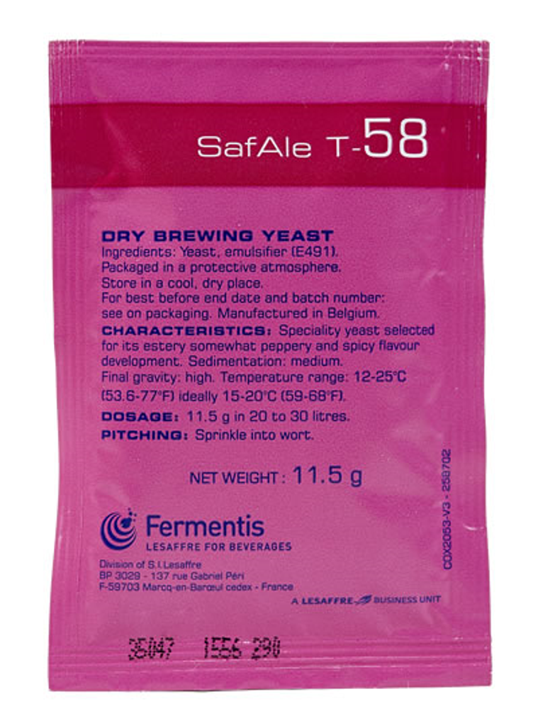 Safbrew T-58 Dry Brewing Yeast