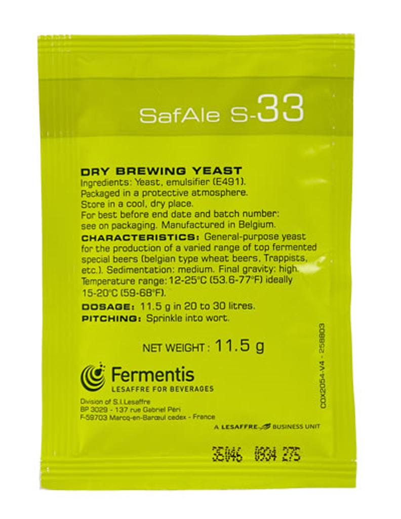 Safbrew S-33 Dry Brewing Yeast