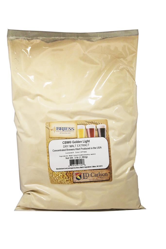 Briess Golden Light Dry Malt Extract 3 Lb