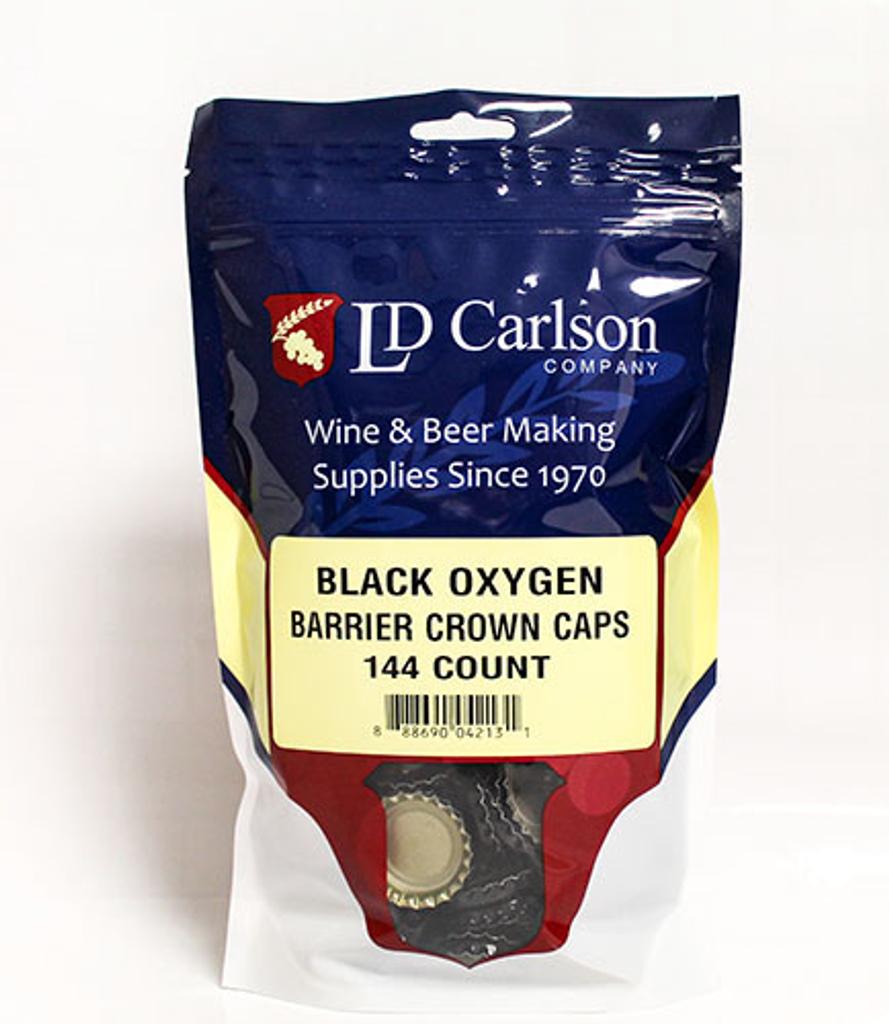 Black Crown Caps (144/Bag)