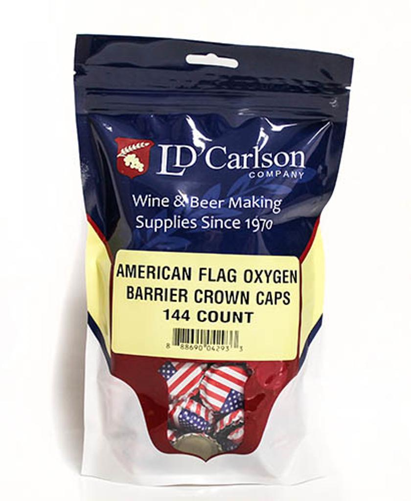 American Flag Crown Caps (144/Bag)
