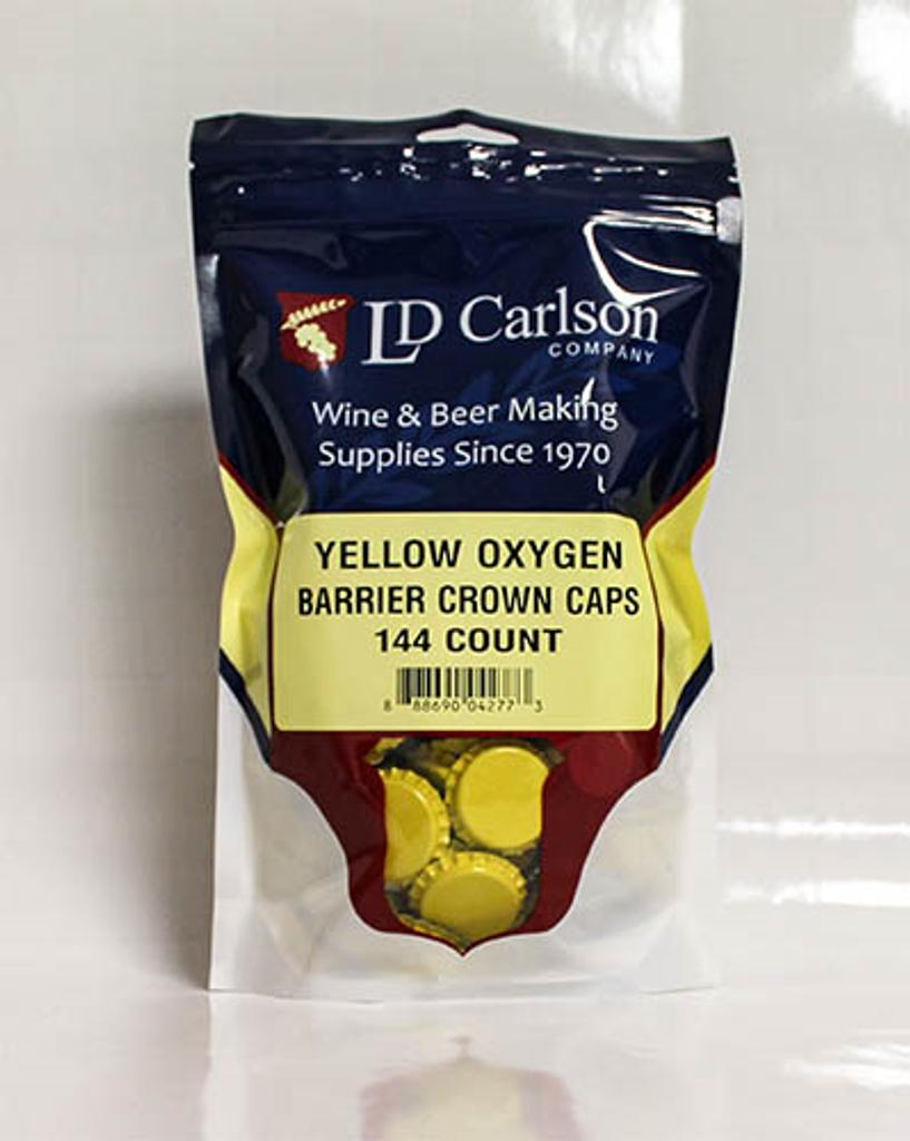 Yellow Crown Caps (Bag of 144)