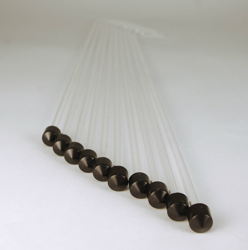 Racking Tube - Curved Clear 24 inch W/Tip (10 Pack)