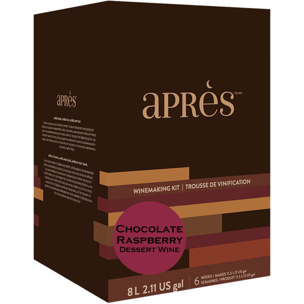 Limited Release Apres Chocolate Raspberry Dessert Wine Kit