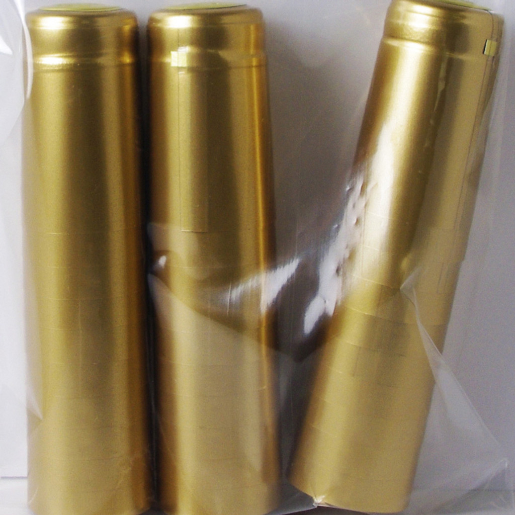 Gold PVC Shrink Capsules (Case Of 8000)