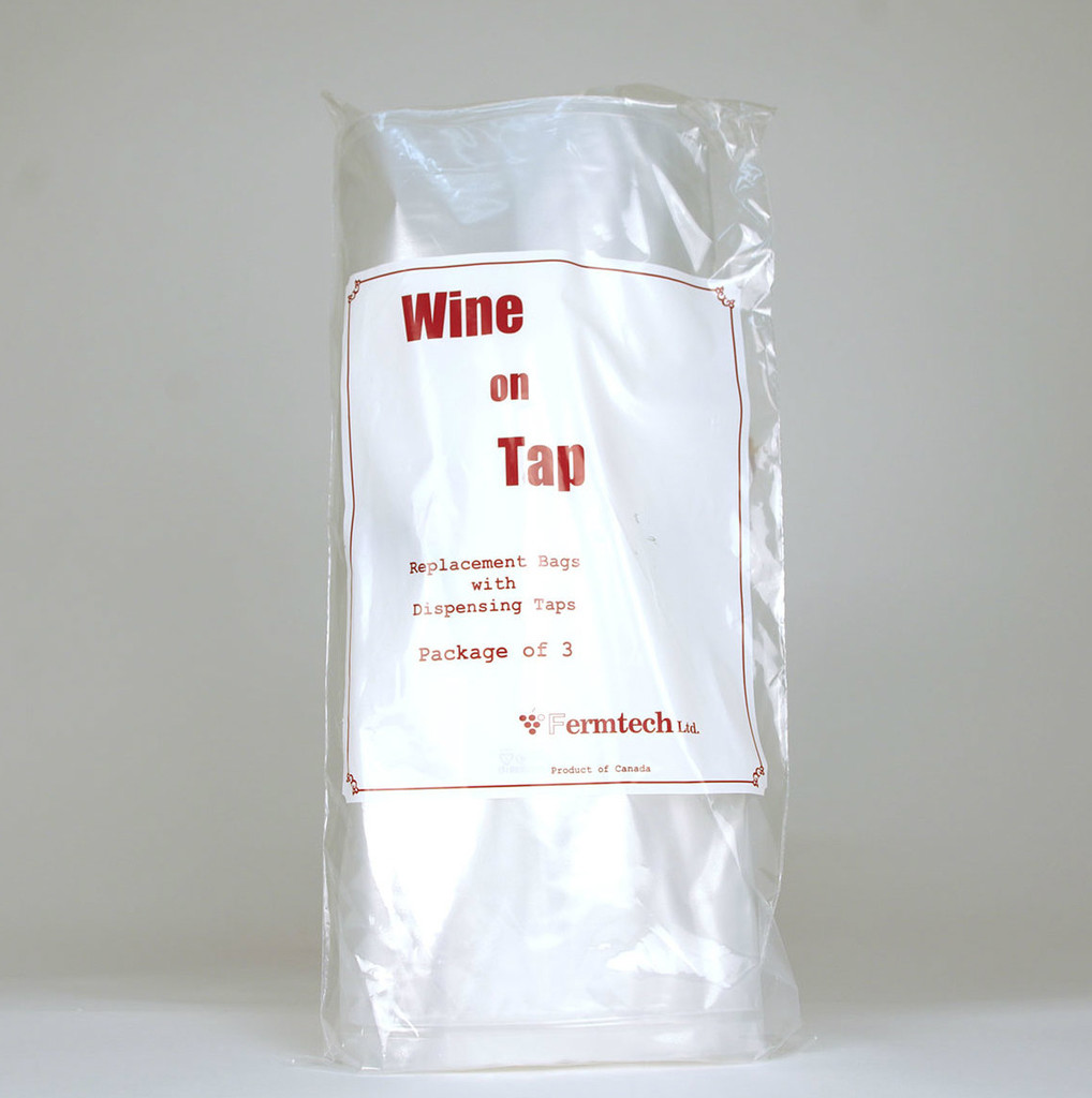 Wine On Tap Replacement Bags (Package Of 3)