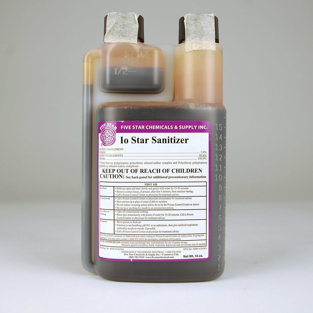 Io 5 Star Iodophor Sanitizer 16 Oz.