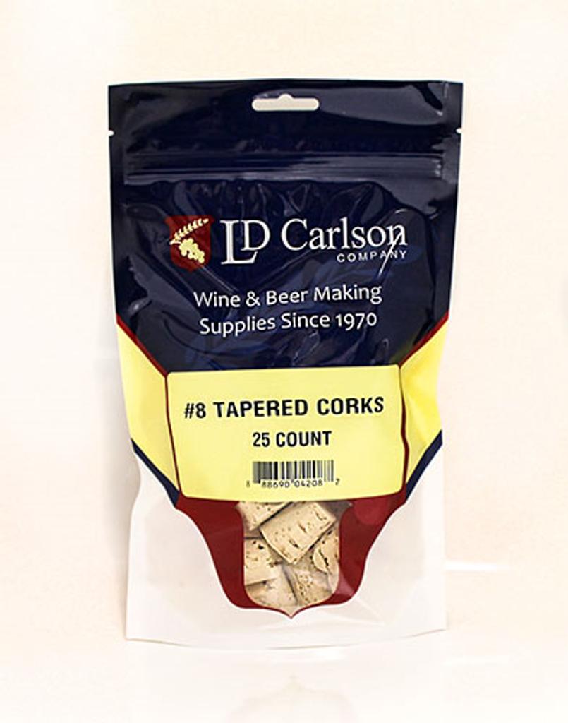 #8 Tapered Corks (25/Bag)