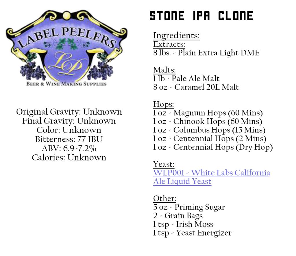 Real Fake Stone IPA Beer Kit