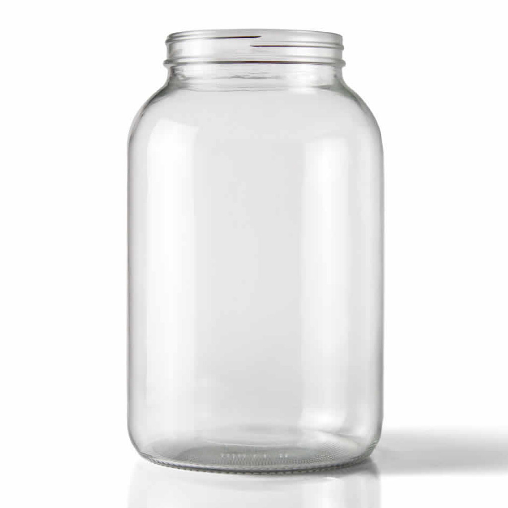 One Gallon Glass Wide Mouth Jug