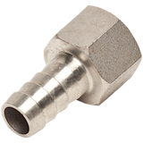 "Stainless Steel 1/2"" Barbed Hose Fitting 1/2"" Female NPT"