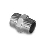 "1/2"" NPT Stainless Steel Hex Nipple for Valve to Bulkhead"