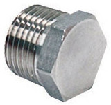 "1/2"" NPT Stainless Steel Hex Plug for Kettles"