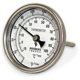 """Brewer's Best Kettle Thermometer 3"""" Dial and 4"""" Probe"""