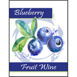 Blueberry Fruit Wine Labels 30 ct