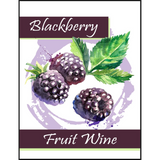 Blackberry Fruit Wine Labels 30 ct