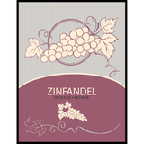 Zinfandel Wine Labels 30 ct
