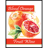 Blood Orange Fruit Wine Labels 30 ct