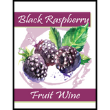 Black Raspberry Fruit Wine Labels 30 ct
