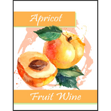 Apricot Fruit Wine Labels 30 ct