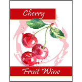 Cherry Fruit Wine Labels 30 ct.