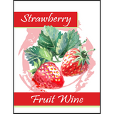 Strawberry Fruit Wine Labels 30 ct