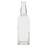 Clear Whiskey Bottle 750mL - Single