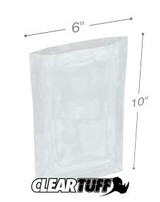 "Heat Sealable Clear Poly Bags 100 ct. 6"" x 10"" x .002"