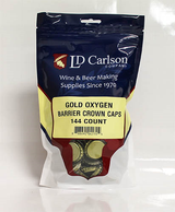 Gold Crown Caps - 144 Count