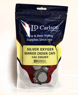Silver Crown Caps w/Oxy Liner - 144 Count