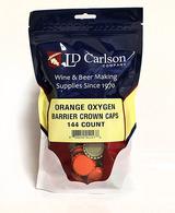 Orange Crown Caps w Oxy Liner (Bag of 144)