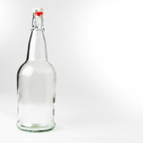 Clear Flip-Top 1 Liter Bottles 12/Case