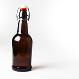 Amber Flip-Top Bottles 16 oz. - 12/Case