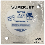 Buon Vino SuperJet Filter Pad #1 Coarse 5.0 Micron (200 ct)