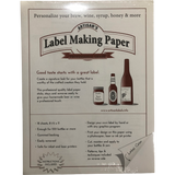 White Label-Making Paper 18 ct