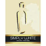 Simply White Wine Labels 30 ct