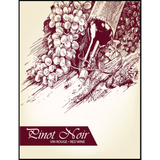 Pinot Noir Wine Labels 30 ct