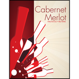 Cabernet Merlot Wine Labels 30 ct