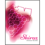 Shiraz Wine Labels 30 ct