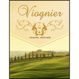 Viognier Wine Labels 30 ct
