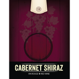 Cabernet Shiraz Wine Labels 30 ct
