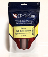 Dusty Rose PVC Shrink Capsules (Bag Of 30)