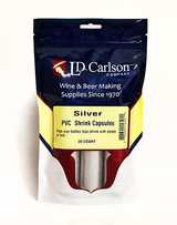 Silver PVC Shrink Capsules (Bag Of 30)
