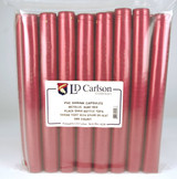 Metallic Solid Ruby Red PVC Shrink Capsules (500 Bulk)