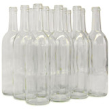 Clear 750 mL Wine Bottles - 12/Case