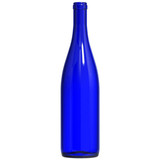Cobalt Blue Hock 750 ml Wine Bottles