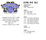 Citra Rye Pale Ale Beer Kit
